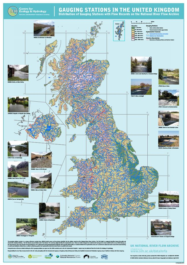 NRFA Gauging Stations map