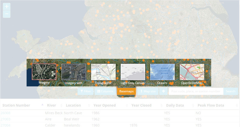 show basemaps
