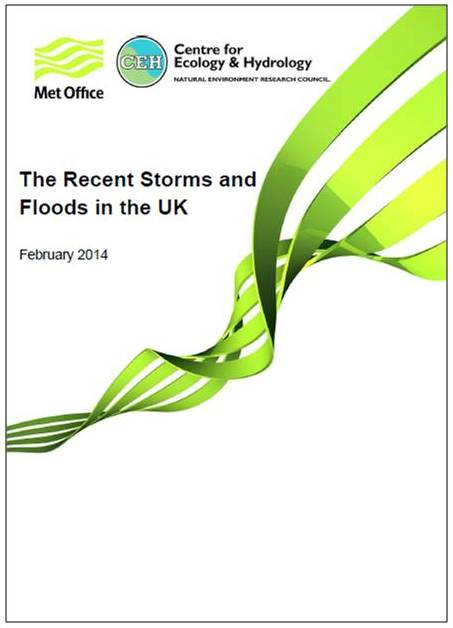 Front cover of 'The Recent Storms and Floods in the UK'